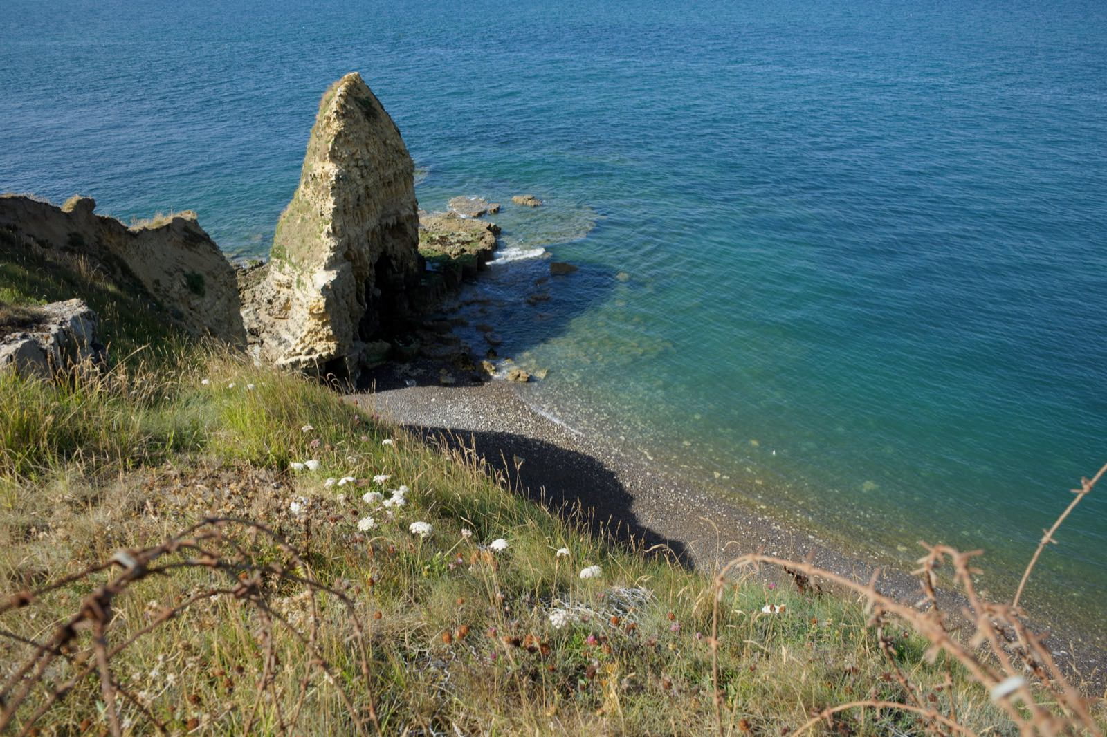 Pointe du Hoc - The cliff soldiers climbed while being shot at